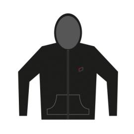 Zip Hoody 'O' Embroidery - Unisex